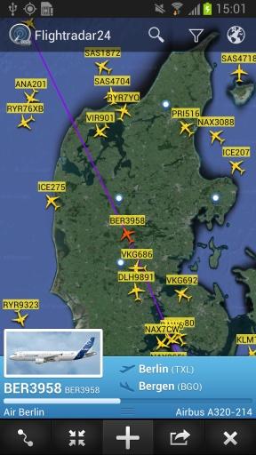 全球航班雷达截图3