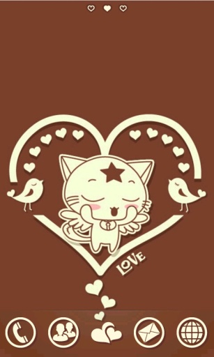 GO主题-萌猫巧克力爱情|玩工具App免費|玩APPs