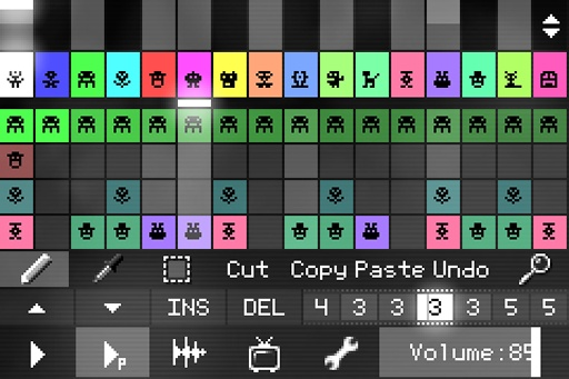 PixiTracker马赛克作曲1bit(demo)