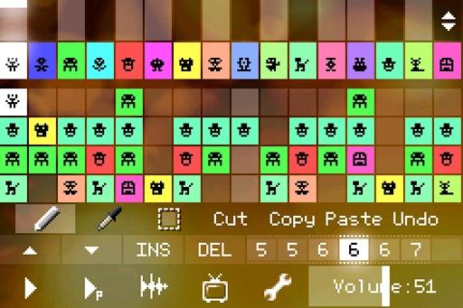 PixiTracker马赛克作曲16bit(demo)