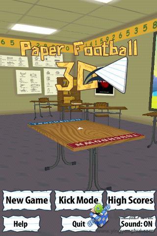 3D纸片美式足球