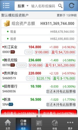 股票+ (手机炒股票软件 环球股票基金投资理财)