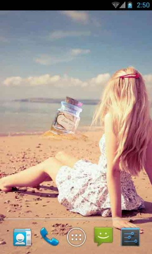 海滩女神动态壁纸