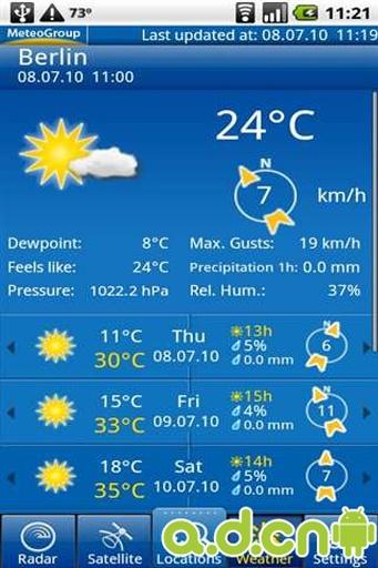 专业天气预报