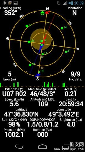 GPS状态:GPS Status截图0