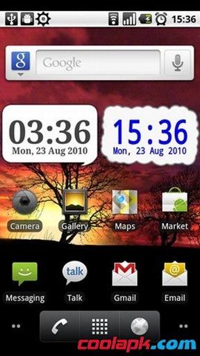 时钟插件:DigiClock Widget