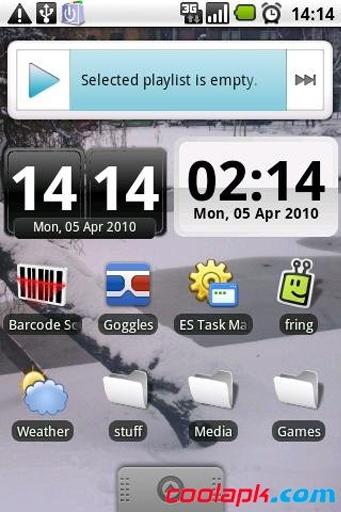 时钟插件:DigiClock Widget截图1