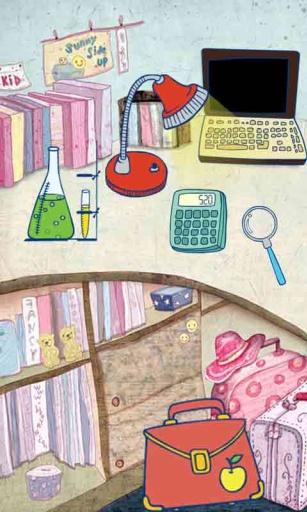 神奇书桌划屏动态壁纸