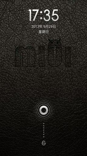 小米主题-皮革手表锁屏版截图0