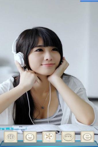宝软3D主题-音乐美女