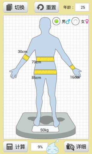 脂肪含量计算器