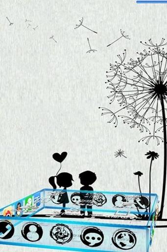 宝软3D主题-蒲公英下的爱截图0