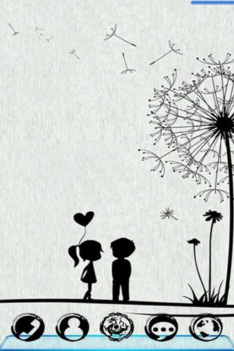 宝软3D主题-蒲公英下的爱截图3