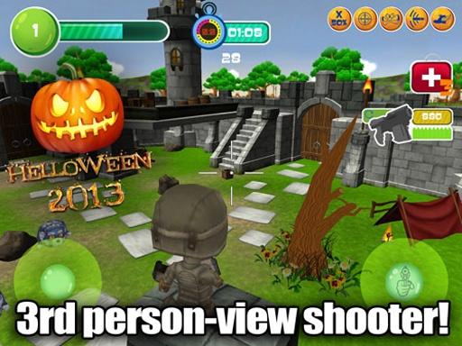 玩具巡逻射手3D;万圣节截图3