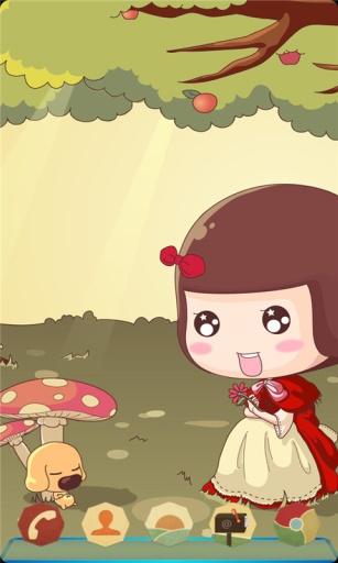 宝软3D主题-采蘑菇的小姑娘