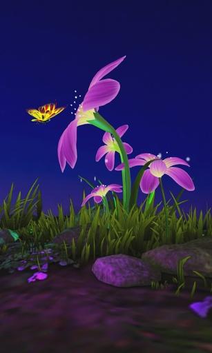 蝴蝶花3D壁纸截图4