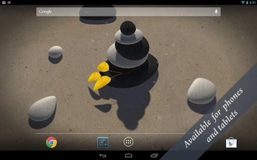 3D Zen Stones LWP Free截图0
