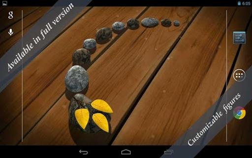3D Zen Stones LWP Free截图4