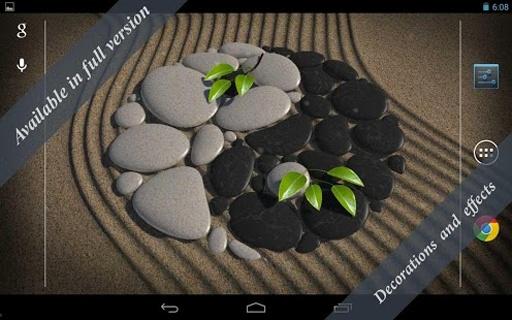 3D Zen Stones LWP Free截图6