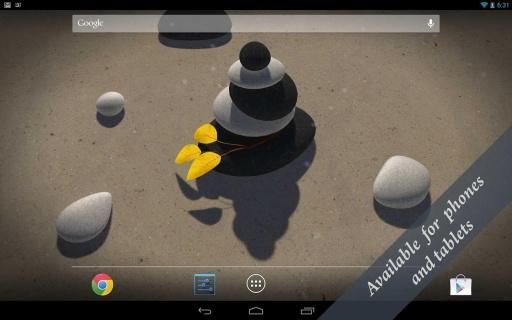 3D Zen Stones LWP Free截图7