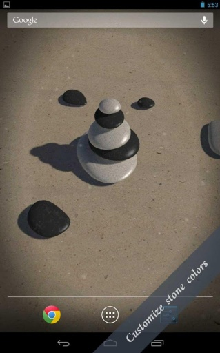 3D Zen Stones LWP Free截图9