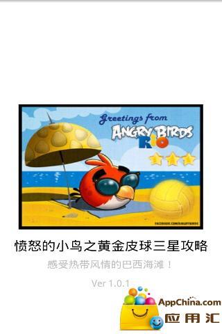 愤怒的小鸟RIO-黄金皮球三星攻略