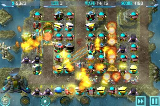 银河机器人防御截图2