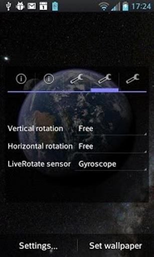 Earth & Moon in HD Gyro 3D截图10