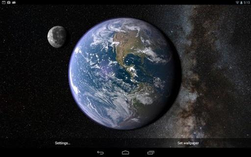 Earth & Moon in HD Gyro 3D截图4