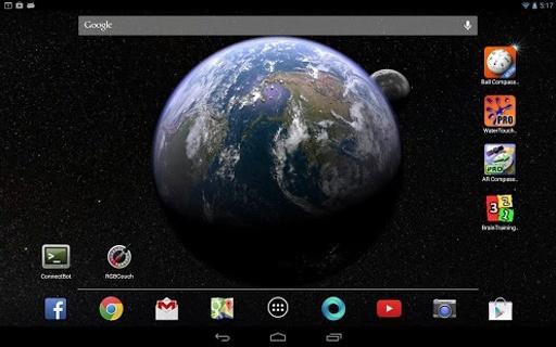 Earth & Moon in HD Gyro 3D截图5