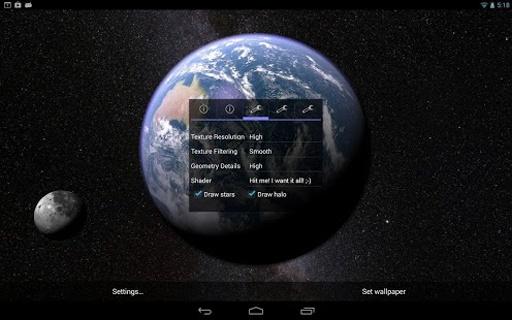 Earth & Moon in HD Gyro 3D截图7