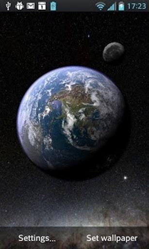 Earth & Moon in HD Gyro 3D截图8