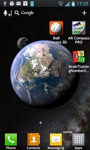 Earth & Moon in HD Gyro 3D截图9