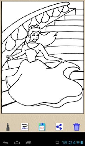 公主儿童的最佳图纸画画