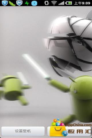 安卓机器人大战苹果动态壁纸截图1