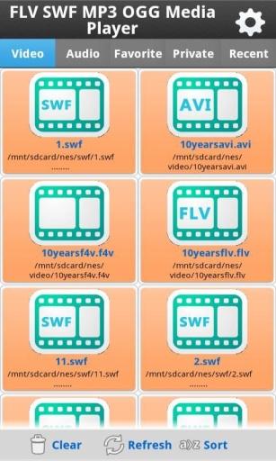 FLV SWF MP3 OGG Media Player截图4
