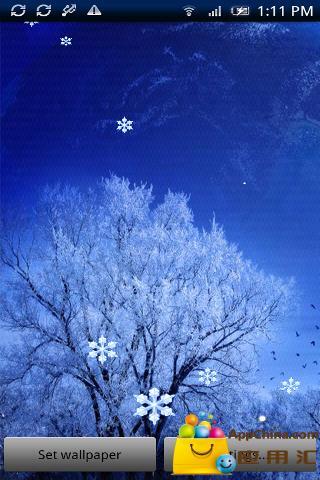 美丽的飘雪动态壁纸