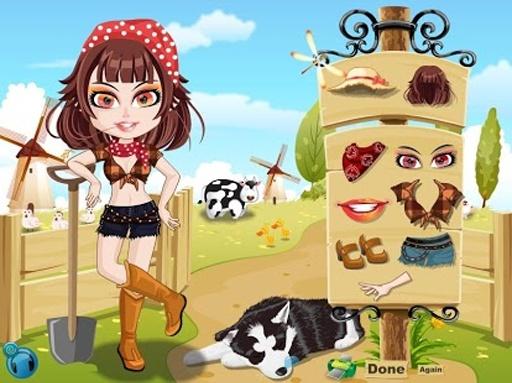 农夫的女孩打扮