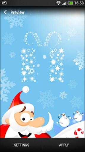 """""""圣诞老人背景""""提供默城多处美丽的白雪的宁静图像"""