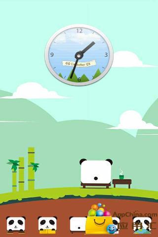 可爱熊猫ZT主题壁纸截图0