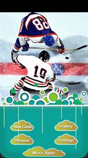 滑冰球的人物矢量图