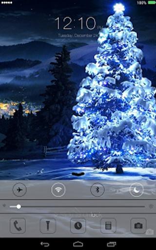 圣诞节的ios 7锁屏