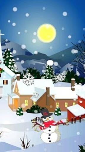 首页→应用程序→设置→显示→墙纸→主屏幕壁纸→动态壁纸→圣诞节