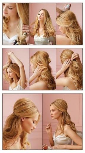 新娘发型,发型步骤图解
