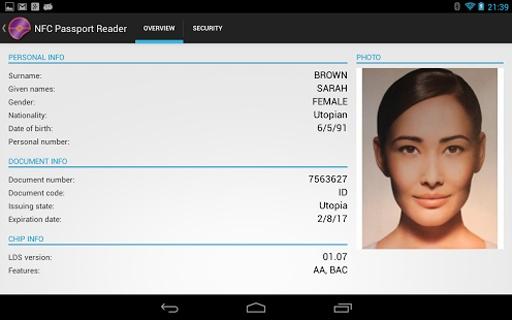 NFC Passport Reader截图0
