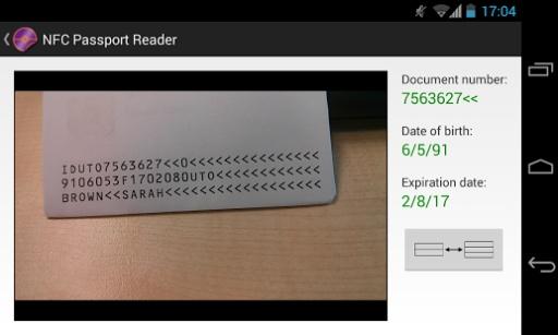 NFC Passport Reader截图7