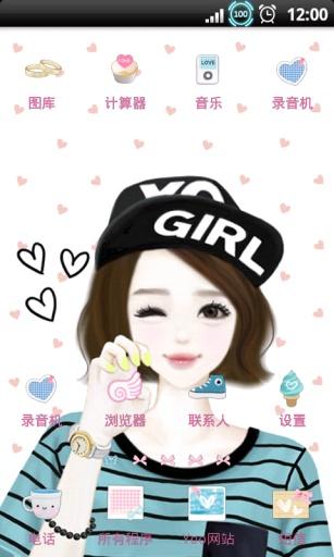 YOO主题-韩国唯美甜美少女