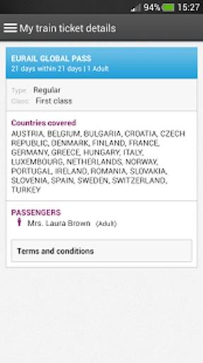 My Train Companion 欧洲铁路公司所有截图10