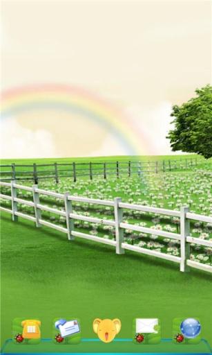 宝软3D主题-彩虹下的绿茵