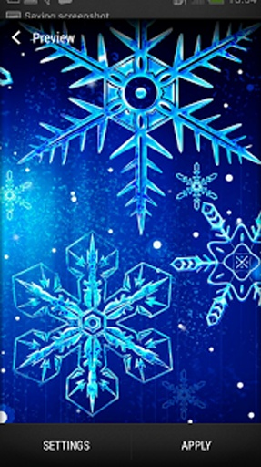 雪花 动态壁纸截图2